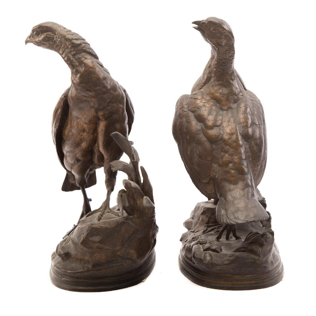 Jules Moigniez. Pair of Partridges, Bronze - 2