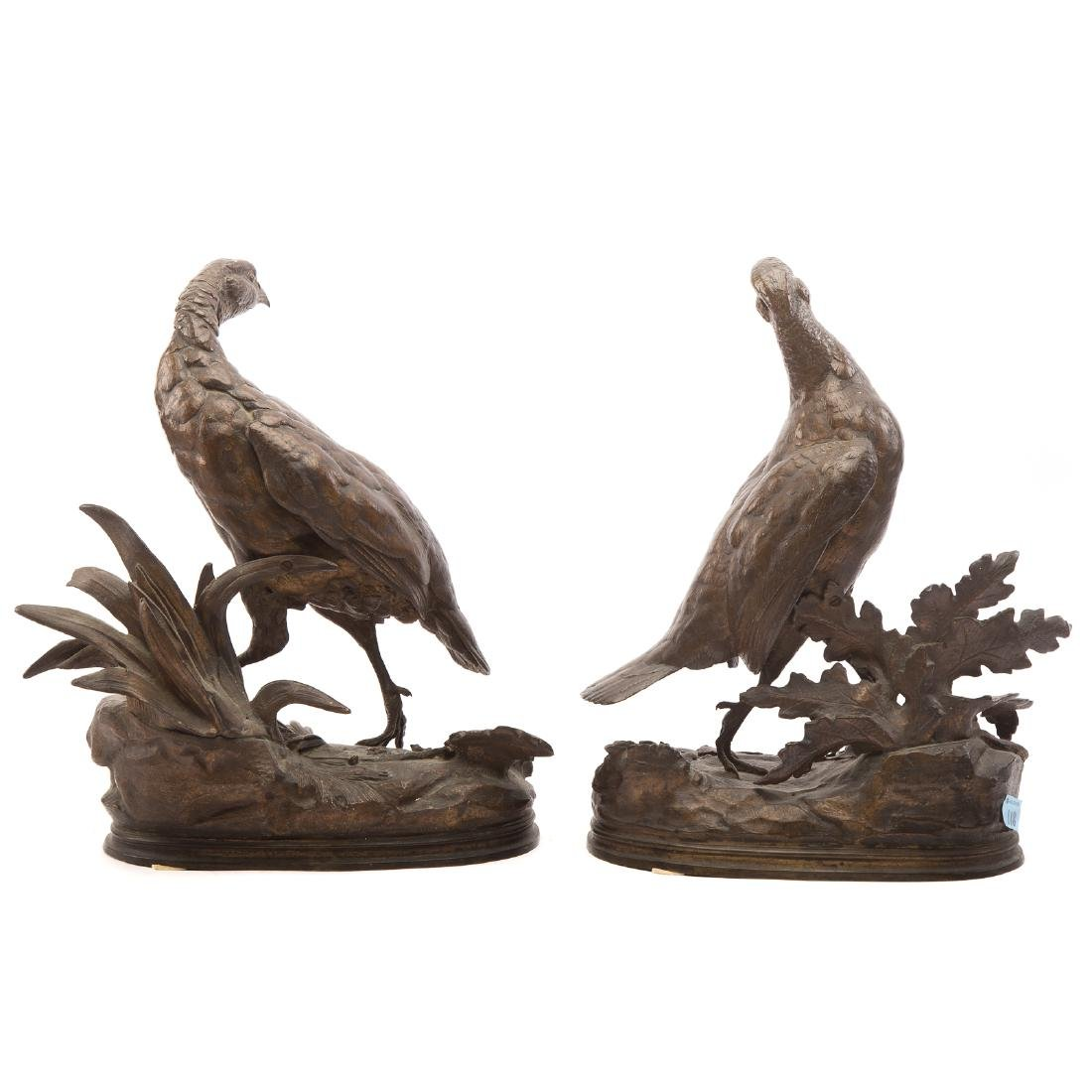 Jules Moigniez. Pair of Partridges, Bronze - 3