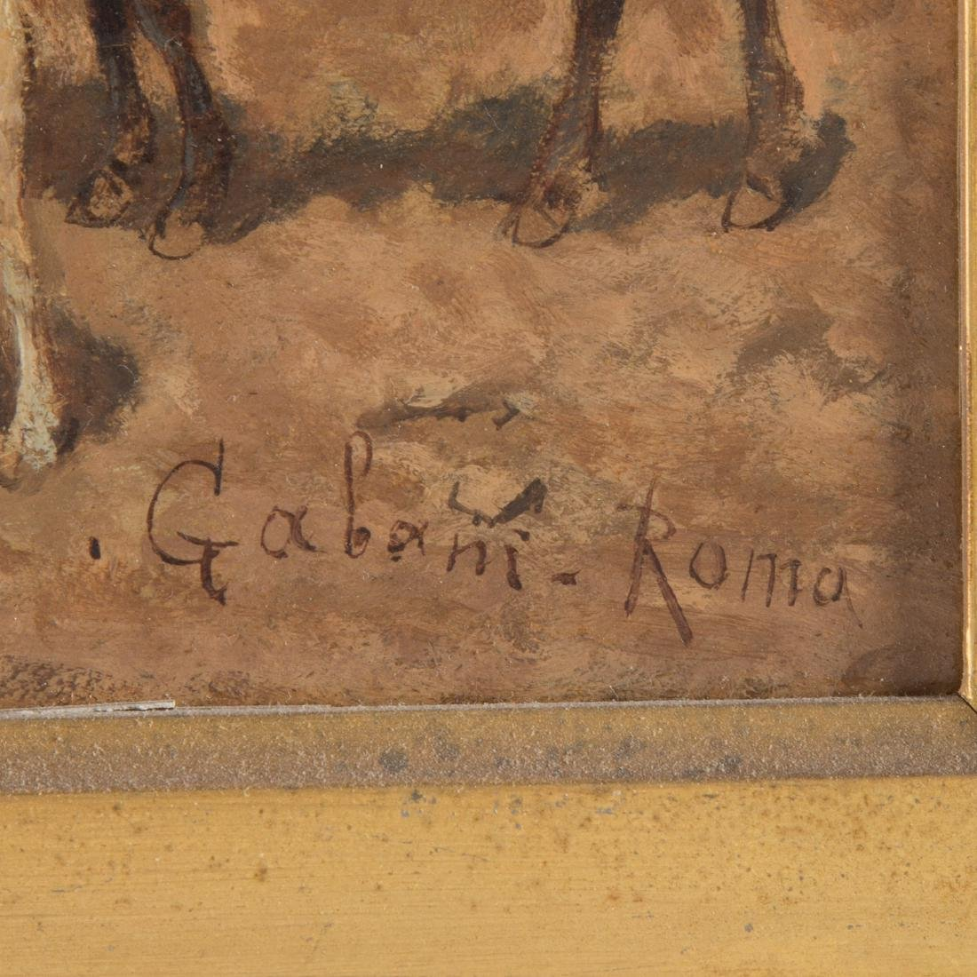 "Giuseppe Gabani. ""Shepherd with Donkey,"" Oil - 4"