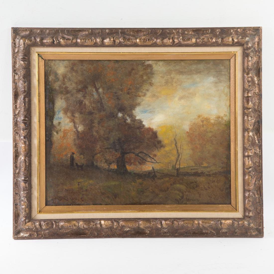 Franklin De Haven. Landscape, Oil on Canvas