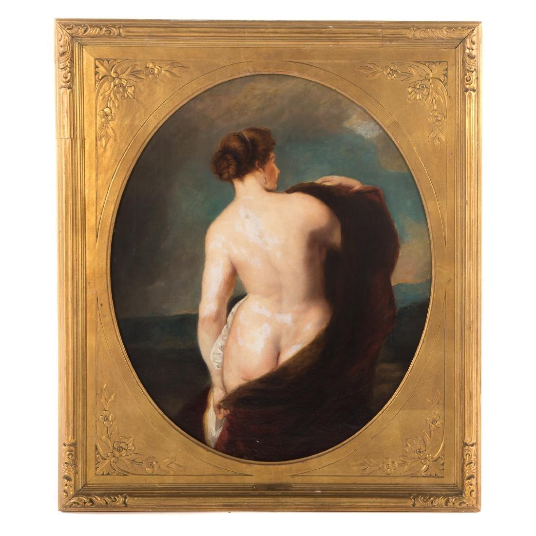 William Etty. Female Nude, Oil on Canvas