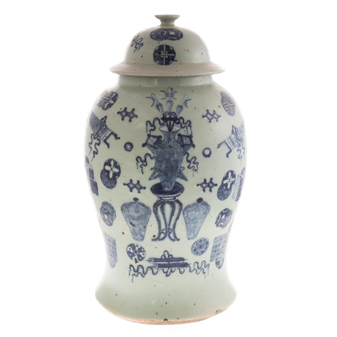 Two Pieces Blue and White Chinese Export Porcelain - 2