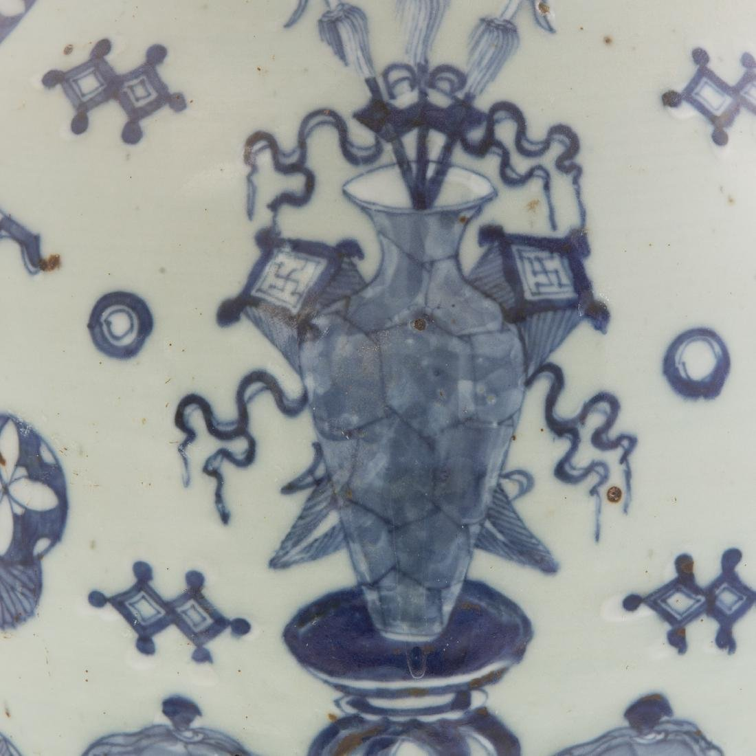Two Pieces Blue and White Chinese Export Porcelain - 3