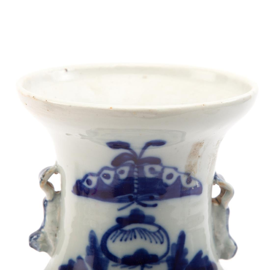 Two Pieces Blue and White Chinese Export Porcelain - 7