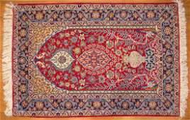 Fine Persian Ispahan Prayer Rug approx 36 x 52