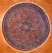 Indo Tabriz Rug, approx. 8.3 x 8.3 round