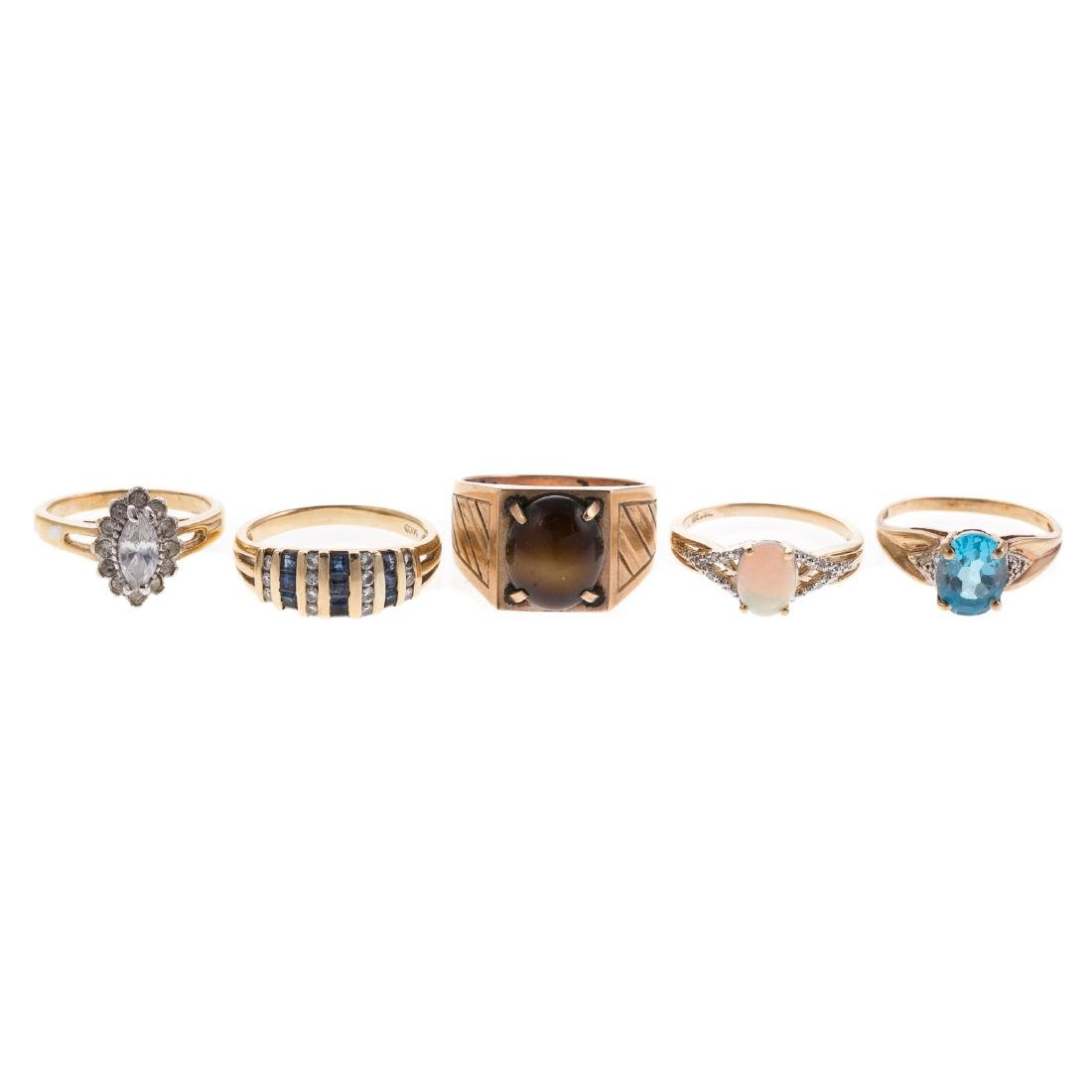 A Collection of Ladies Gemstone Jewelry
