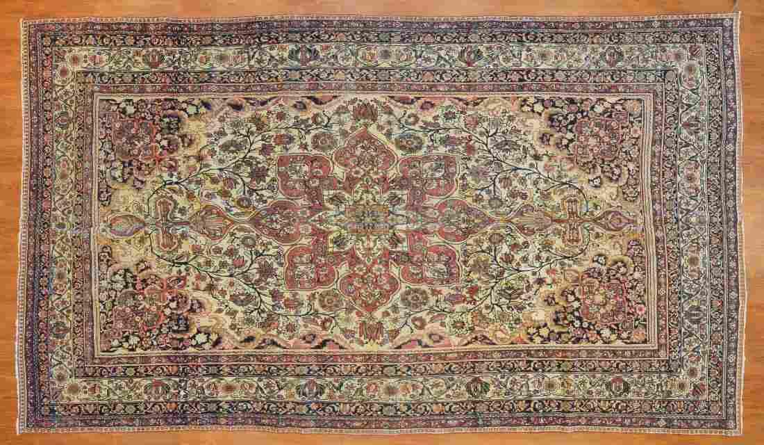 Antique Lavar Kerman Carpet, approx. 7.8 x 13.5