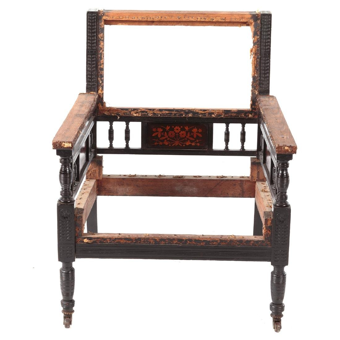 Aesthetic Movement Rosewood Inlaid Arm Chair
