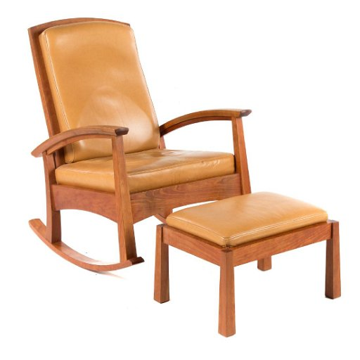 Remarkable Thomas Moser Cherry Rocking Chair And Ottoman Short Links Chair Design For Home Short Linksinfo