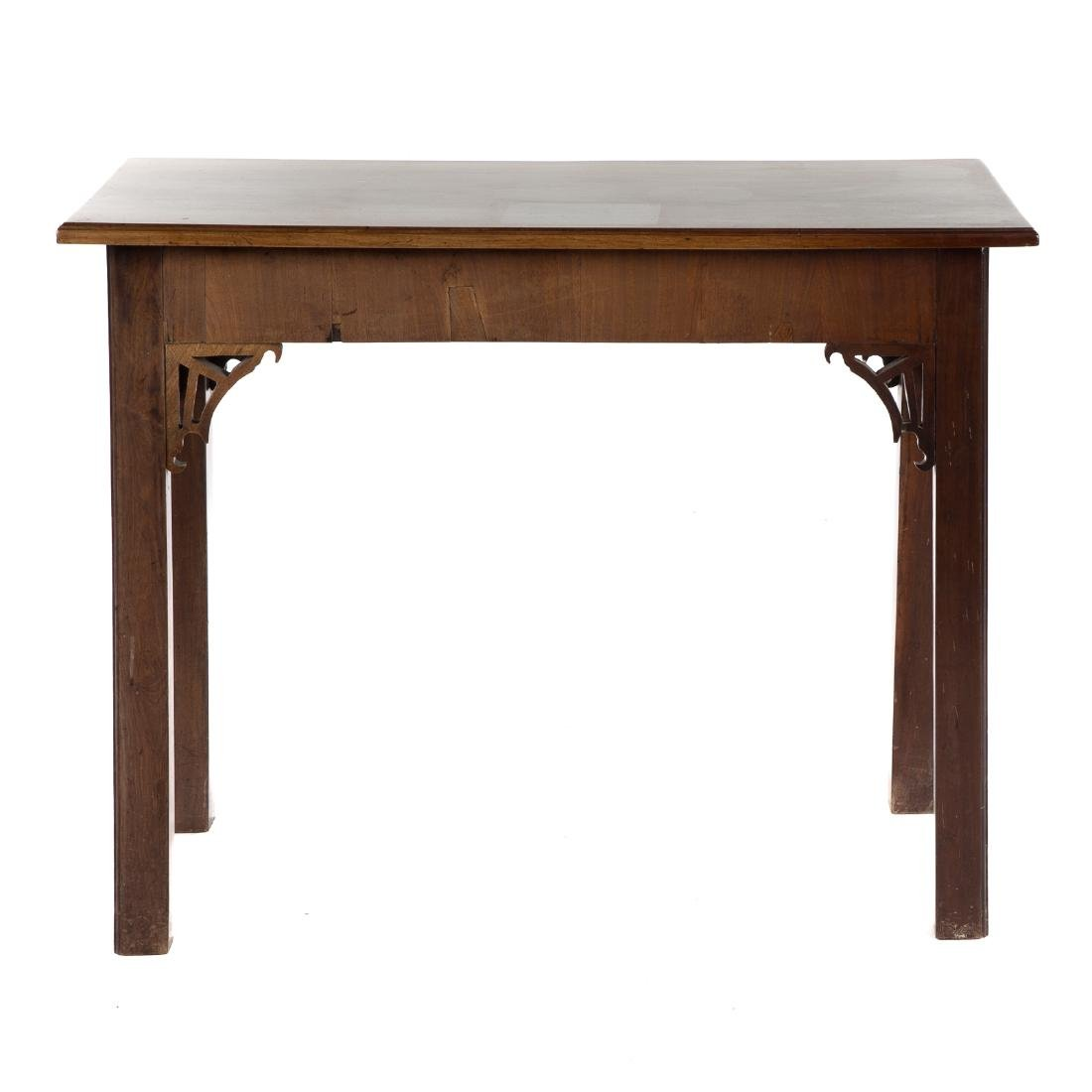 George III Chinese Chippendale Mahogany Side Table