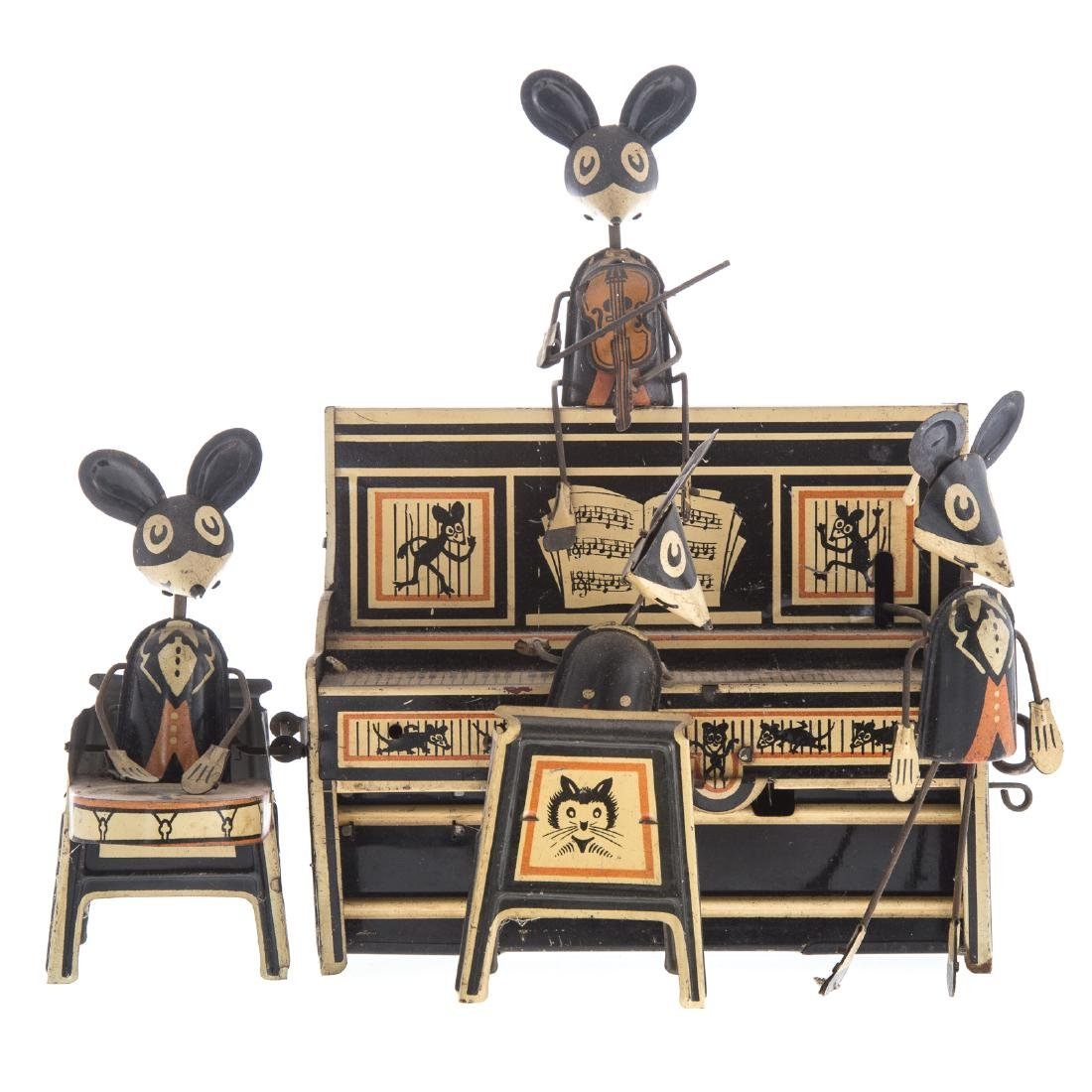 Marx Tin Windup Merry Makers Mouse Band