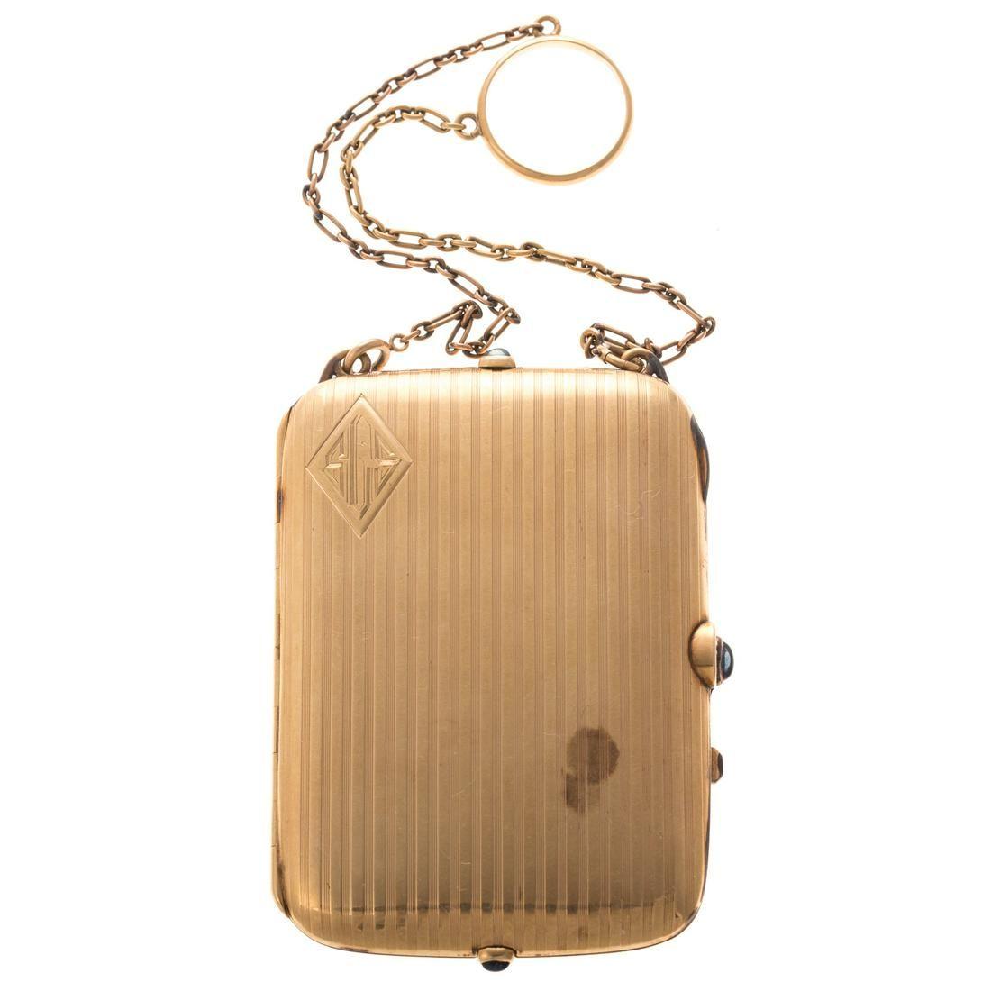 A Ladies Vintage Minaudiere in 14K Gold
