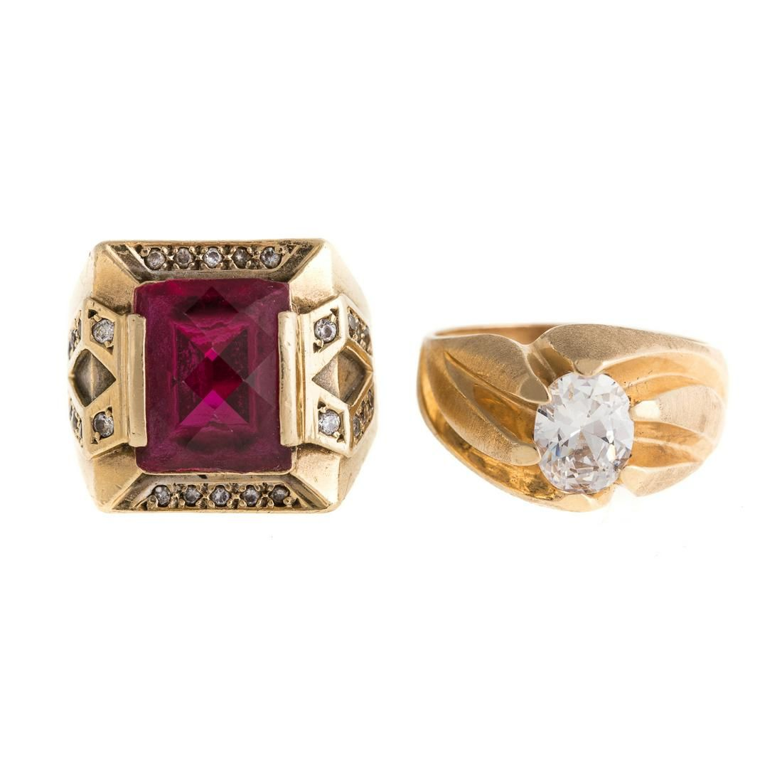 Two Gentlemen's Rings in 14K Gold