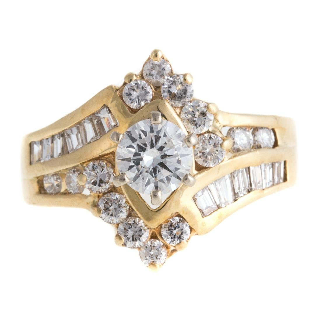 A Ladies Diamond Engagement Ring in 14K