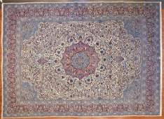 Semi-Antique Lavar Kerman Carpet, Persia 12.2 x 17