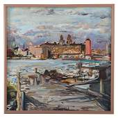 Raoul Middleman. View of Baltimore Harbor