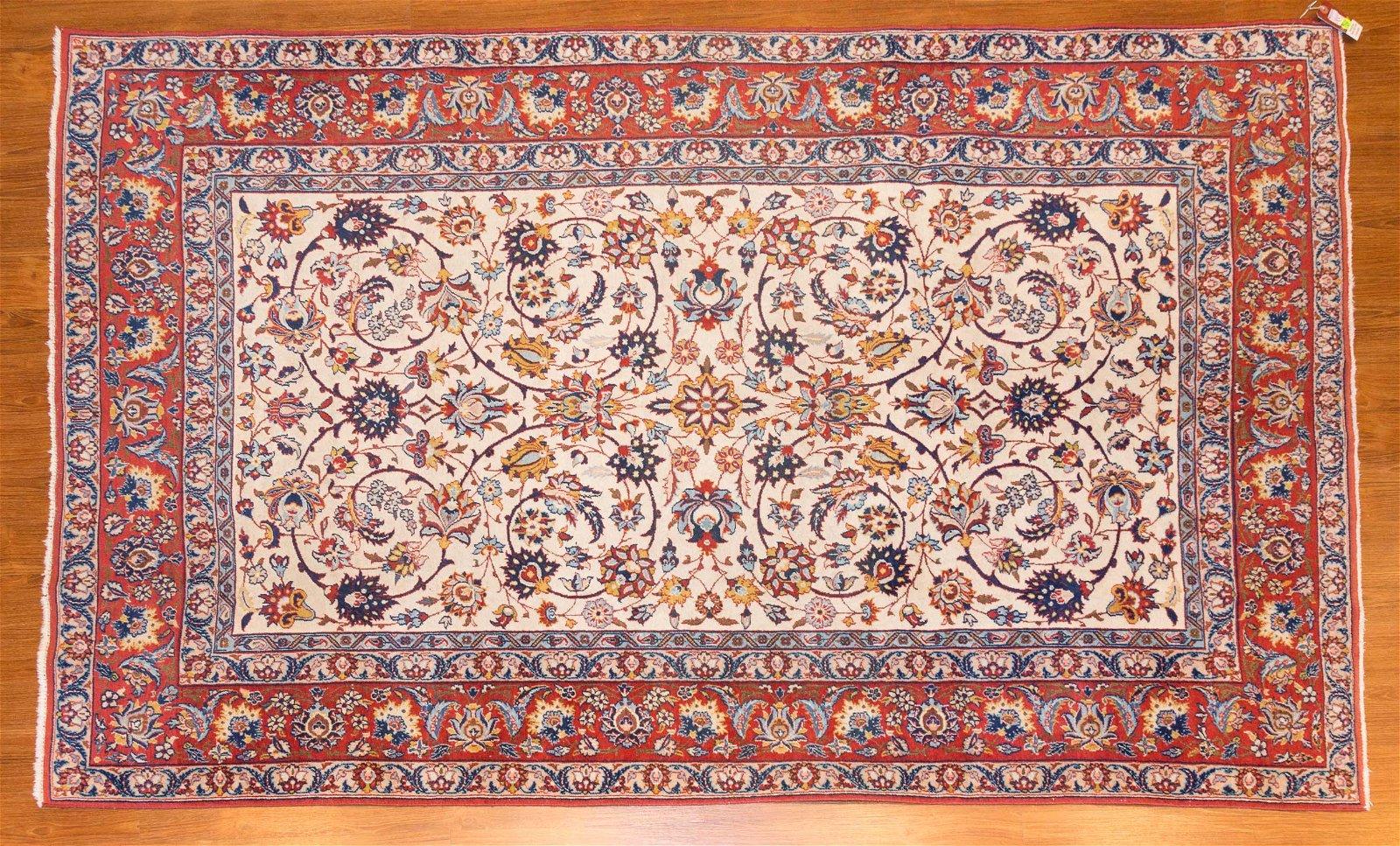 Isphahan Rug, Persia, 4.9 x 6.11