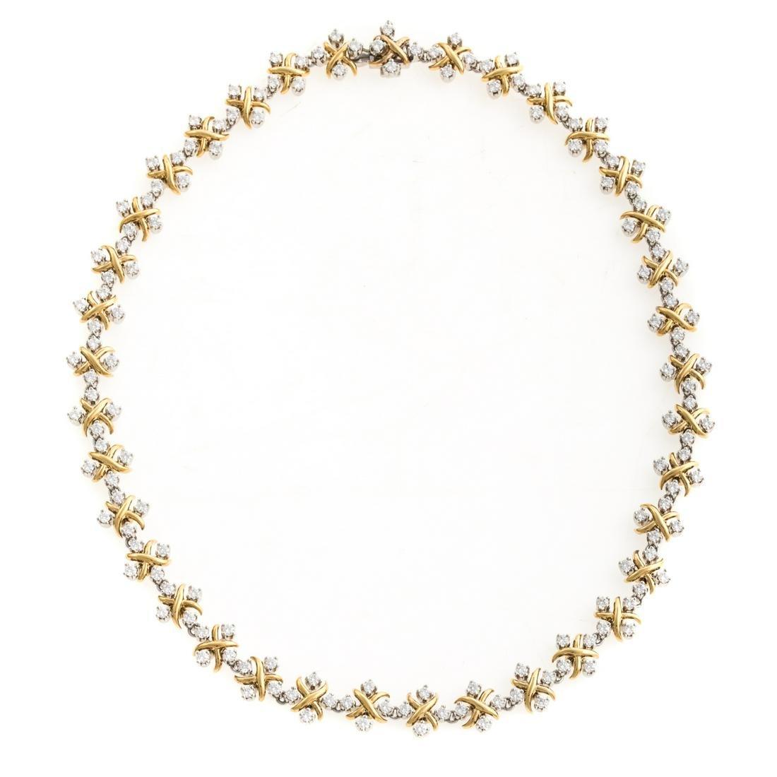"Tiffany & Co Schlumberger ""Lynn"" Diamond Necklace"