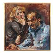 Raoul Middleman. Double Portrait