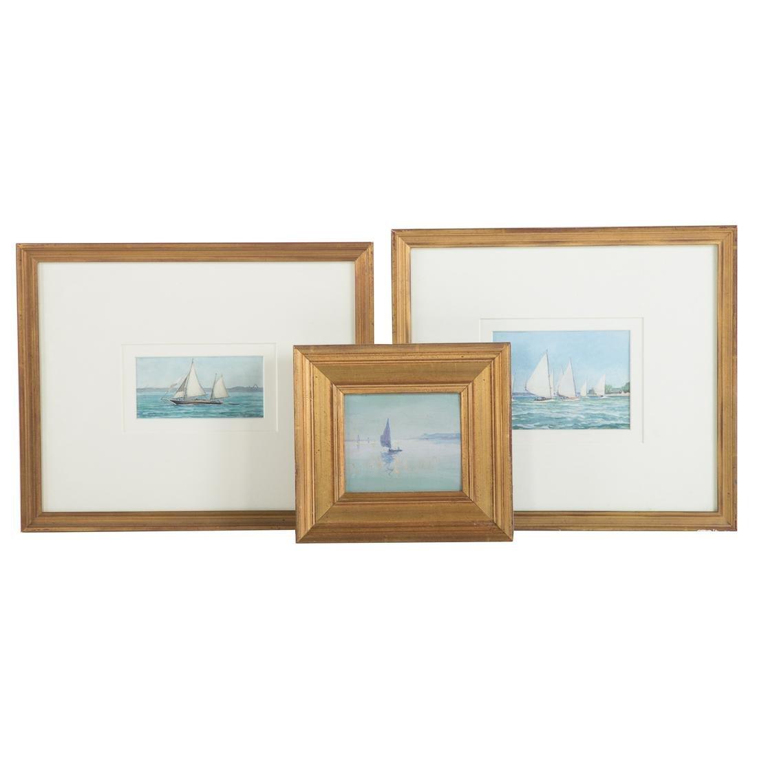 Attrib. to Louis J. Feuchter. Three Framed Works