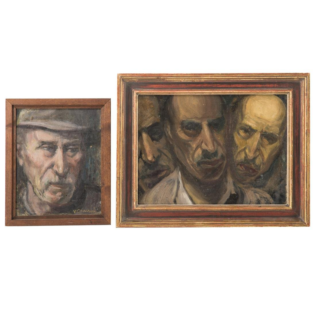Vincent Canade. Two Self Portraits