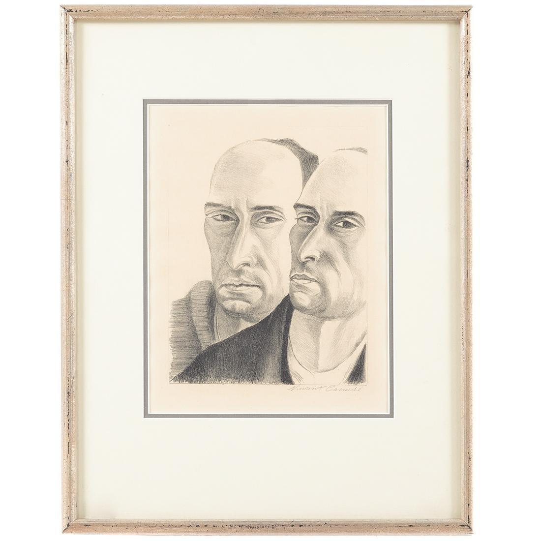 """Vincent Canade. """"Double Self Portrait"""""""