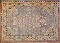 Antique Agra Carpet, India, 11 x 15.4