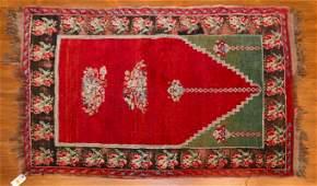 Turkish Anatolian Prayer Rug, 3.3 x 4.3