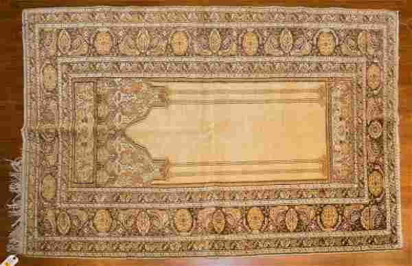 Turkish Kayseri Prayer Rug, 4 x 5.10