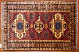 Turkish Kazak Rug, 3.4 x 5