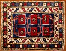 Turkish Kazak Rug, 3.7 x 4.5