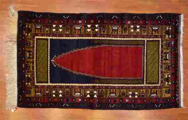 Turkish Yahyali Prayer Rug, 4.6 x 7.6