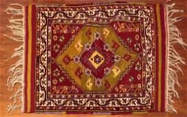 Turkish Yastik Rug, 3.2 x 4.1