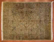 Indo Persian Design Rug, India, 8.1 x 10.2