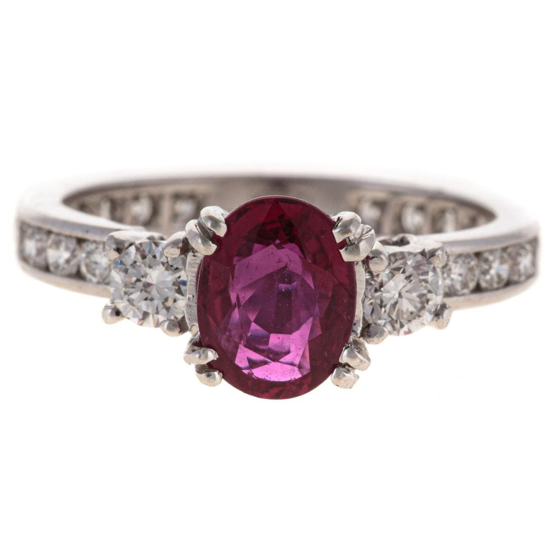 A Tiffany & Co Ruby & Diamond Ring in Platinum