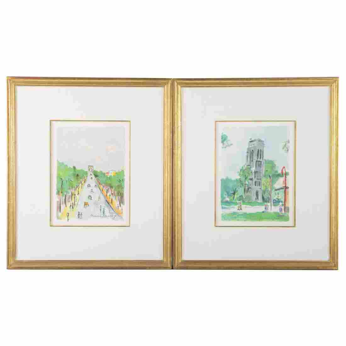 """Maurice Utrillo. Two Scenes from """"Paris Capitale"""""""