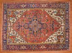 Antique Heriz Rug, Persia, 7 x 10.7