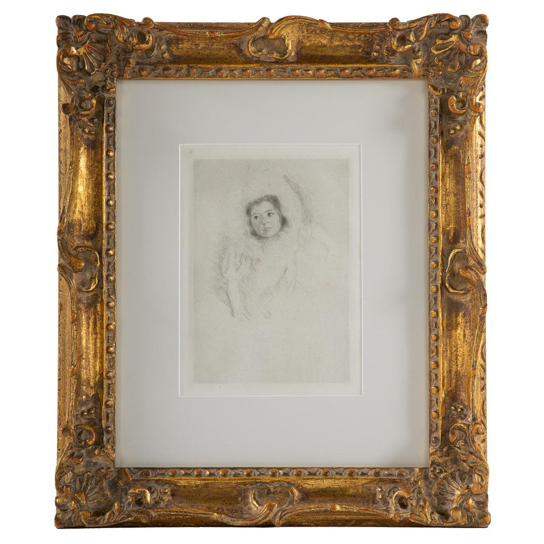 """Mary Cassatt. """"Margot Wearing Her Bonnet"""""""
