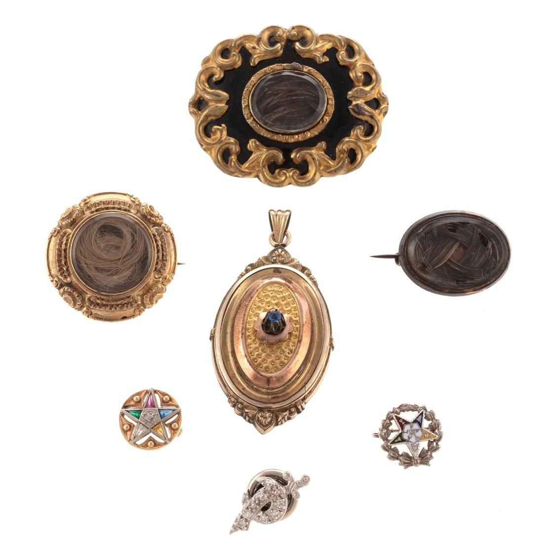 A Collection of Victorian Mourning Jewelry