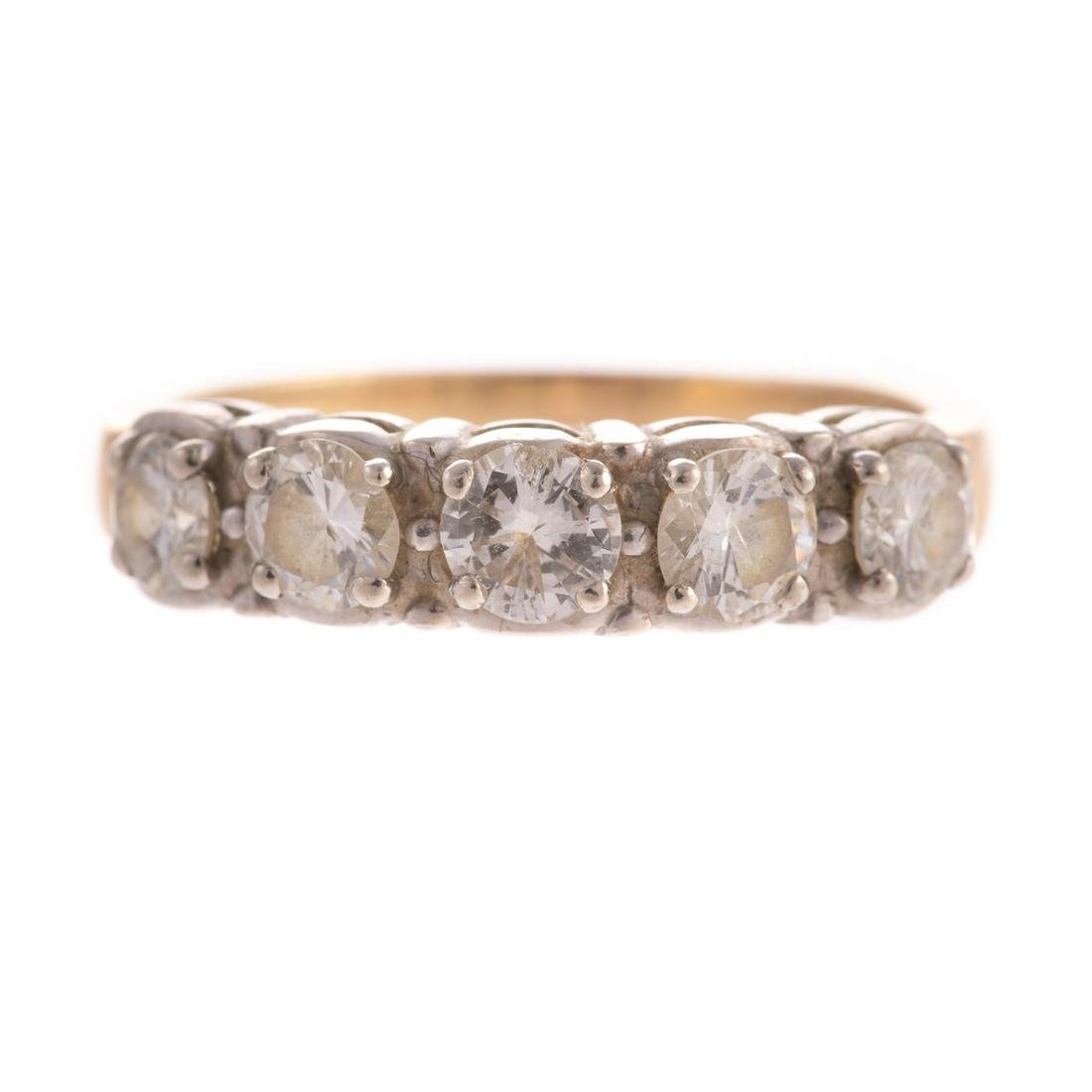 A 1.00 ctw Diamond Wedding Band in 14K