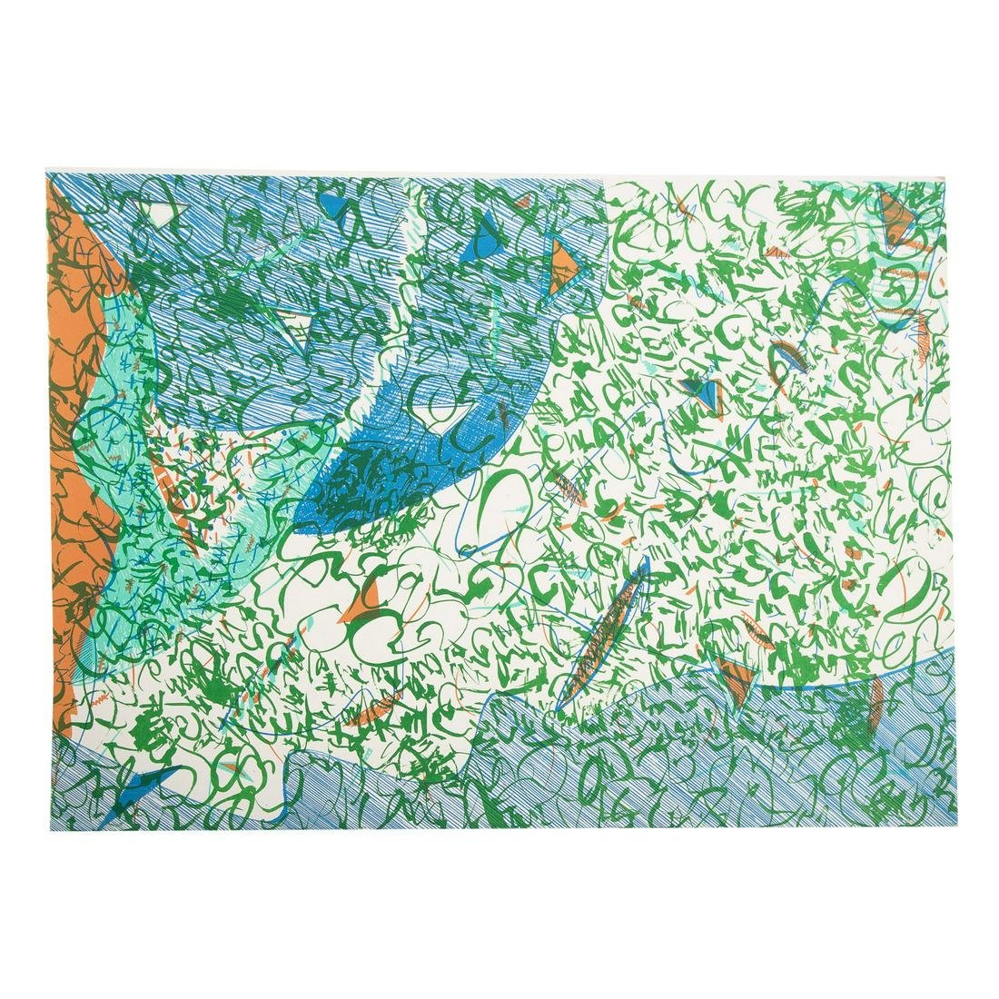 EJ Montgomery. Untitled Abstract in Blue and Green