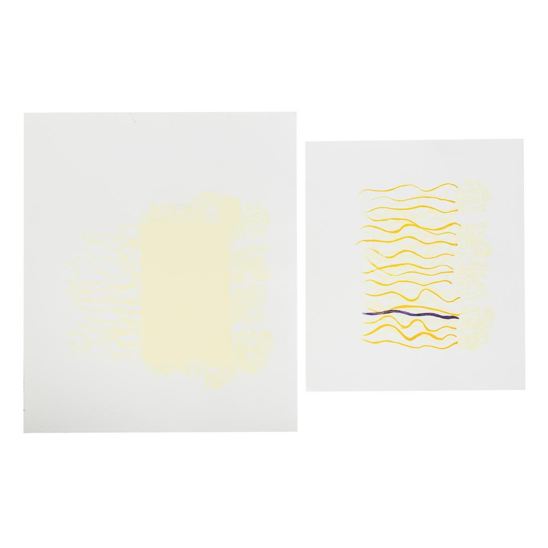 EJ Montgomery. Two Abstract Works on Paper