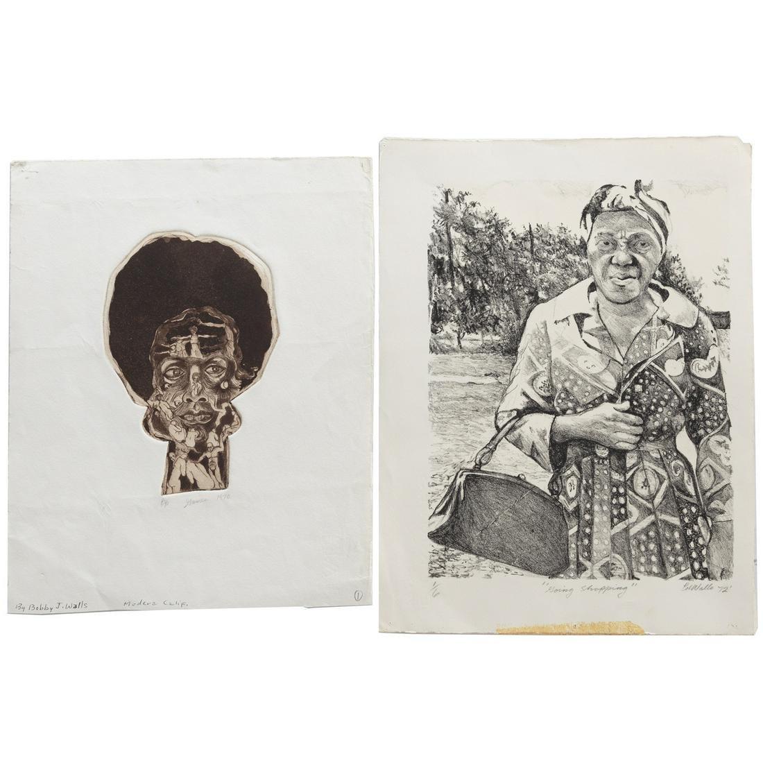 Bobby J. Walls. Two Unframed Works