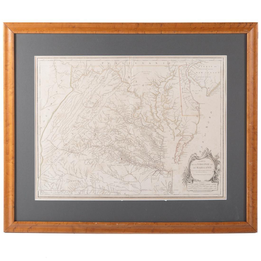 de Vaugondy. Carte de la Virginie et du Maryland
