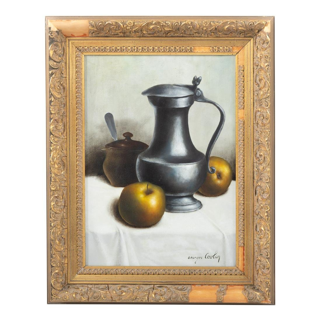 Georges Coulon. Still Life With Pewter Pitcher