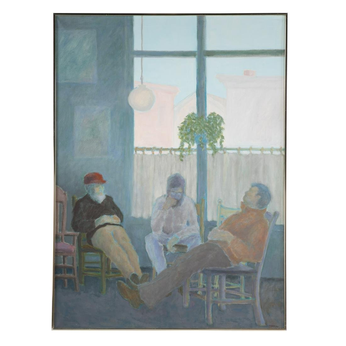 Shirley Aleman-Carson. Men Lounging On The Porch