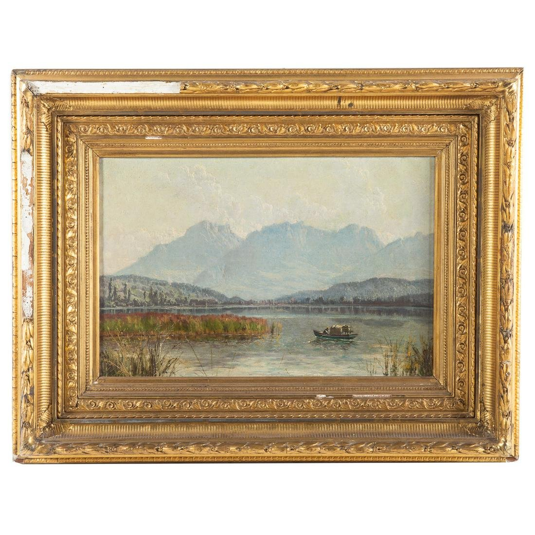 Continental School, 19th c. Landscape With Lake