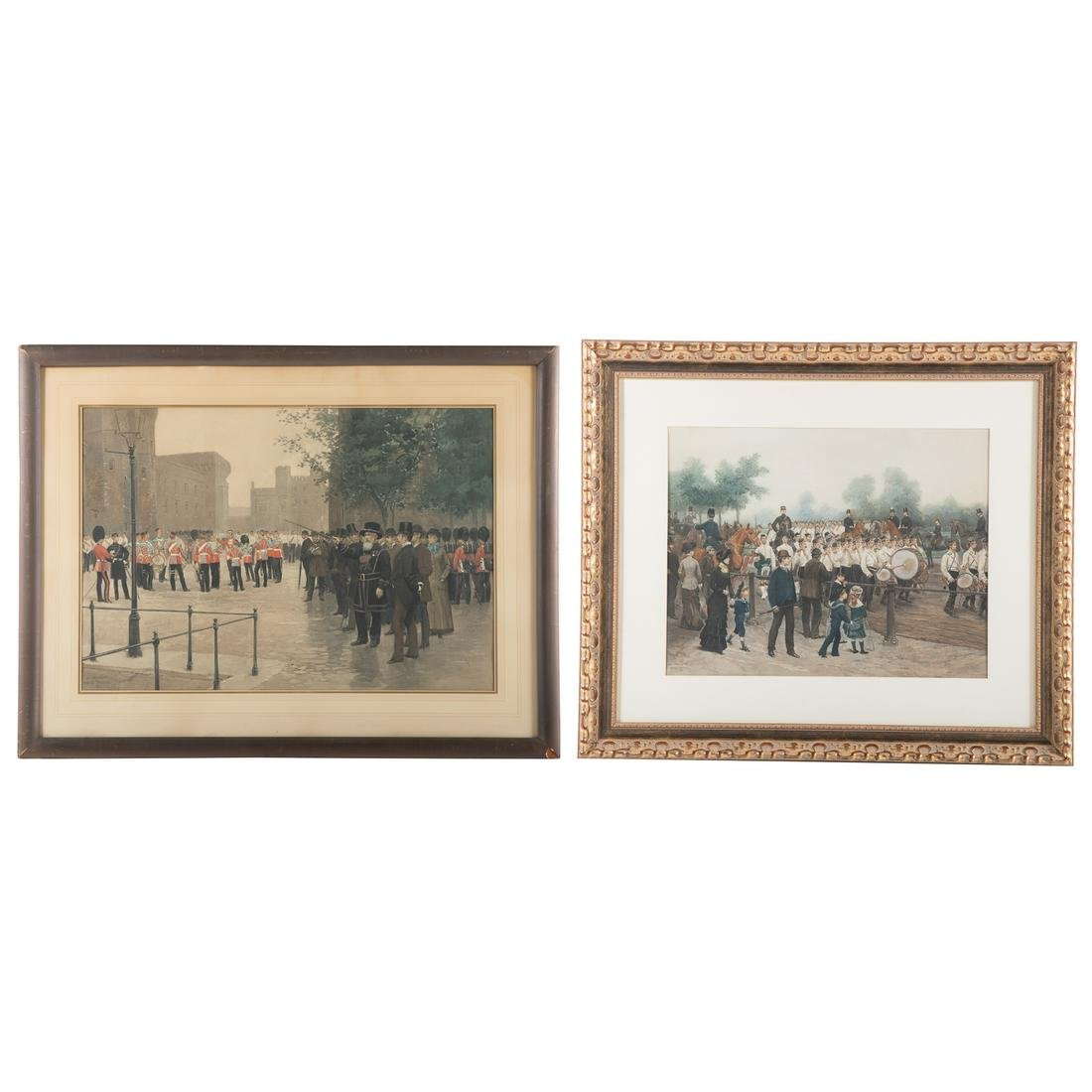 After Edouard Detaille. Pair Of Framed Prints