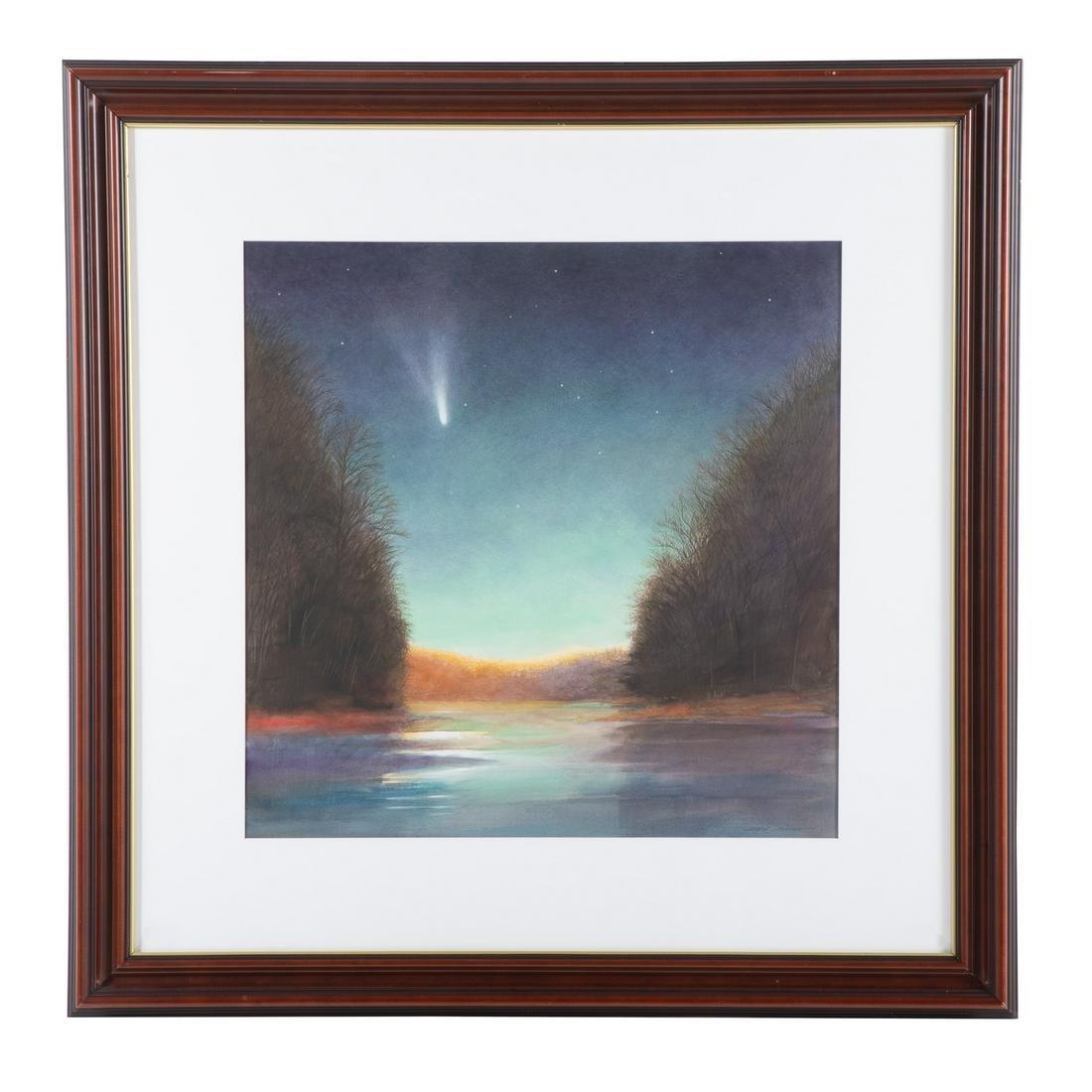 """Greg Mort. """"Comet in a Green Sky"""""""